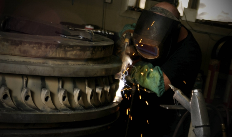 Welded nozzle fabrication