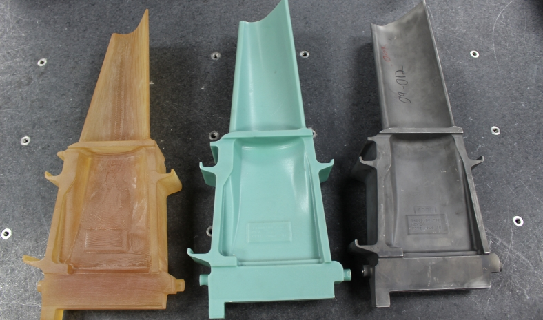 Frame 9 - MS9001 Buckets (3-D, wax and casting)